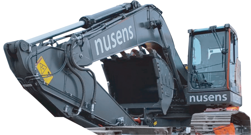 Excavator - Nusens Niche Contracting Services - Nusens Contracting LTD - Best Niche Contracting Service Provider in GTA Toronto Vancouver - Repair, Cleaning, Protection and Construction Services