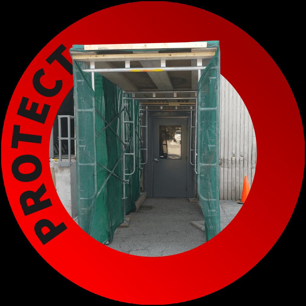 Overhead Protection Toronto - Sidewalk Overhead Protection - Overhead Protection Systems - Nusens Contracting LTD