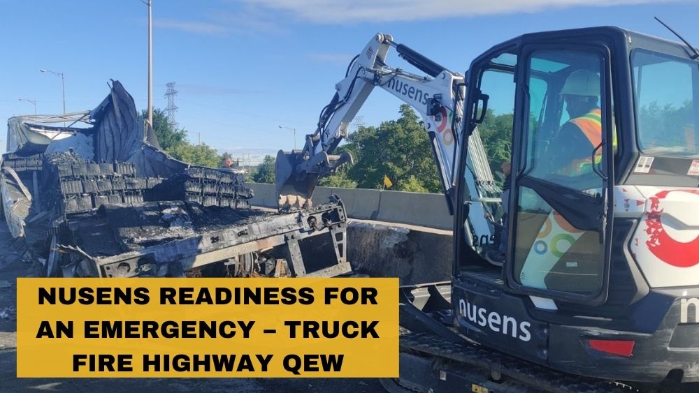 Nusens readiness for an emergency – Truck Fire Highway QEW