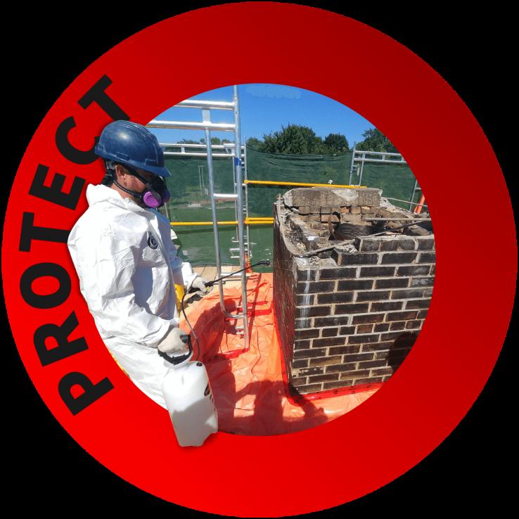 Asbestos Abatement Toronto - Black Version - Environmental Abatement - Abatement Services - Hazard Removal - Nusens Niche Contracting Services in GTA Toronto, Halifax, Calgary and Vancouver